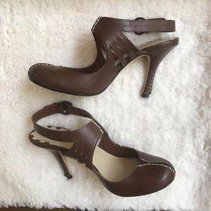 Max Studio Brown mary-jane heels, size 7.5